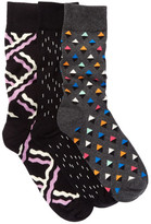 Happy Socks Assorted Print Sock - Pack of 3