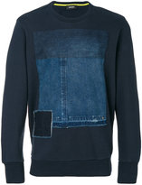 Diesel denim patch sweatshirt