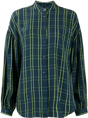 Aspesi Check Print Long-Sleeve Shirt