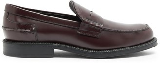 Tod's Logo-debossed Leather Penny Loafers - Burgundy