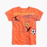 "J.Crew Boys' glow-in-the-dark ""world soccer tour"" T-shirt"