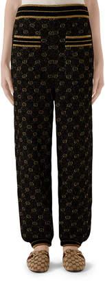 Gucci Metallic Logo Jacquard Jogger Pants