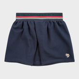 Paul Smith Girls' 7+ Years Navy Zebra-Logo Skirt With Glittered Stripes