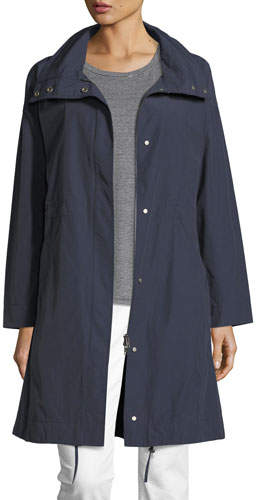 Eileen Fisher Weather-Resistant Long Jacket