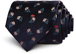 Paul Smith Impressionist Flowers Pattern Classic Tie