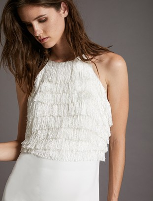 Halston Fringe Dress