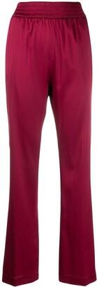 Fabiana Filippi High-Waisted Silk Trousers