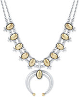 Lucky Brand Two-Tone Polished Oval Statement Necklace