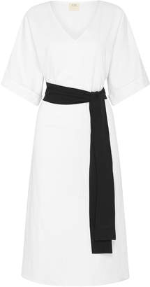 ST. AGNI Yume Linen-Cotton Midi Dress