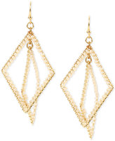 INC International Concepts M. Haskell for Gold-Tone Imitation Pearl Geometric Orbital Drop Earrings, Only at Macy's