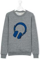 Paul Smith headphones print sweatshirt - kids - Cotton/Polyester - 14 yrs