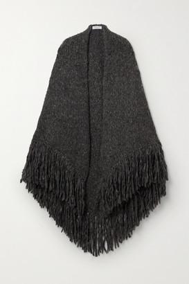 Gabriela Hearst Lauren Fringed Cashmere Wrap - Dark gray
