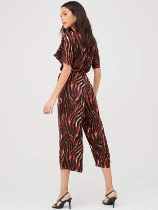 AX Paris Tiger Printed Jumpsuit - Multi
