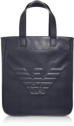 Emporio Armani Black Eagle Mens Vertical Tote Bag