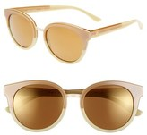 Tory Burch Women's 'Phantos' 53Mm Retro Sunglasses - Beige Black