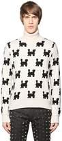 Au Jour Le Jour Trains Intarsia Wool Blend Sweater