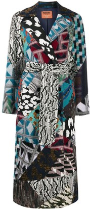 Missoni Belted Patchwork Design Coat