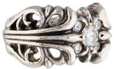Chrome Hearts Cutout Diamond Ring