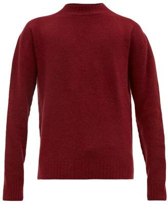Schnaydermans Schnayderman's - Crew Neck Merino Wool Blend Sweater - Mens - Burgundy