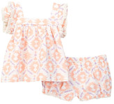 Jessica Simpson Fringed Geo Print Dress Set (Baby Girls)