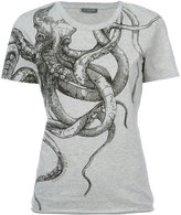 Alexander McQueen octopus print T-shirt - women - Cotton - 36