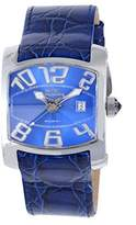 Chronotech Men's CT.7701M/03 Blue Calfskin Band watch.