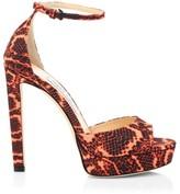 Jimmy Choo Pattie Snakeskin-Embossed Platform Sandals