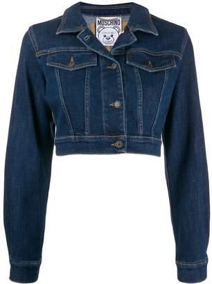 Moschino Teddy Bear embroidery denim jacket