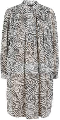 Isabel Marant Erika Monochrome Cotton-blend Mini Dress