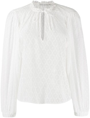 Alice + Olivia Julius tie-neck blouse