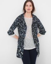 White House Black Market Abstract Floral Print Parka Jacket