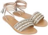 Monsoon Janelle Embelished Lace Up Sandal