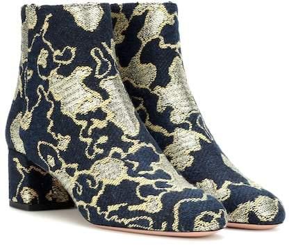 Aquazzura Exclusive to mytheresa.com – Brooklyn 50 brocade ankle boots