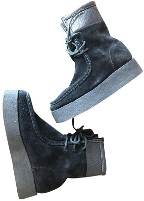 Alexander Wang Black Suede Ankle boots