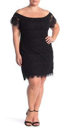 City Chic Off-the-Shoulder Lace Dress (Plus Size)