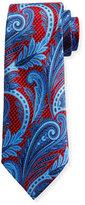 Ermenegildo Zegna Three-Dimensional Paisley Silk Tie, Red