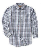 Roundtree & Yorke Gold Label Non-Iron Long-Sleeve Plaid Sportshirt