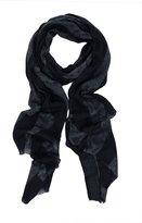 Ayurvastram Pure Cashmere Pashmina Scarf Wrap Stole Shawl in Paisley Stripes Design: Periwinkle, Purple, Blue