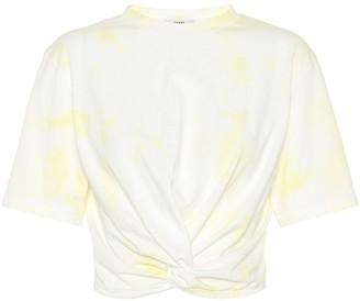 Ganni Cropped cotton T-shirt