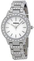 Fossil Women's Stainless Steel Bracelet Glitz Analog Dial Watch ES2362