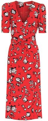Veronica Beard Joia floral midi dress