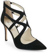 BCBGeneration Black Torpido Pointed Toe High Heel Caged Pumps