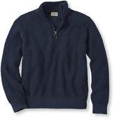 L.L. Bean Men's Cotton/Cashmere Waffle Quarter-Zip Sweater
