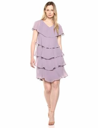 SL Fashions Women's Pebble Tier Dress (Petite and Regular Sizes)