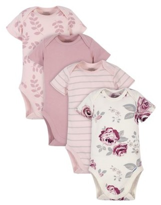 Gerber Modern Moments by Baby Girl Onesies Bodysuits Set, 4-Pack