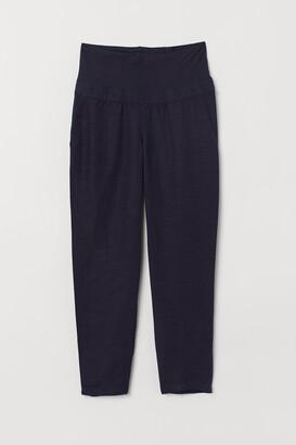H&M MAMA Linen-blend trousers