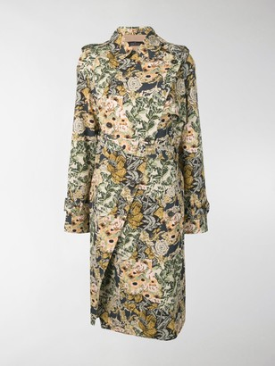 Rokh Floral Wrap Trench Coat