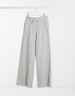 Stradivarius wide leg sweatpants in gray