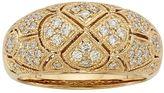 1/2 Carat T.W. IGL Certified Diamond 14k Gold Art Deco Wedding Ring