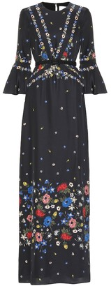 Erdem Floral-printed silk dress